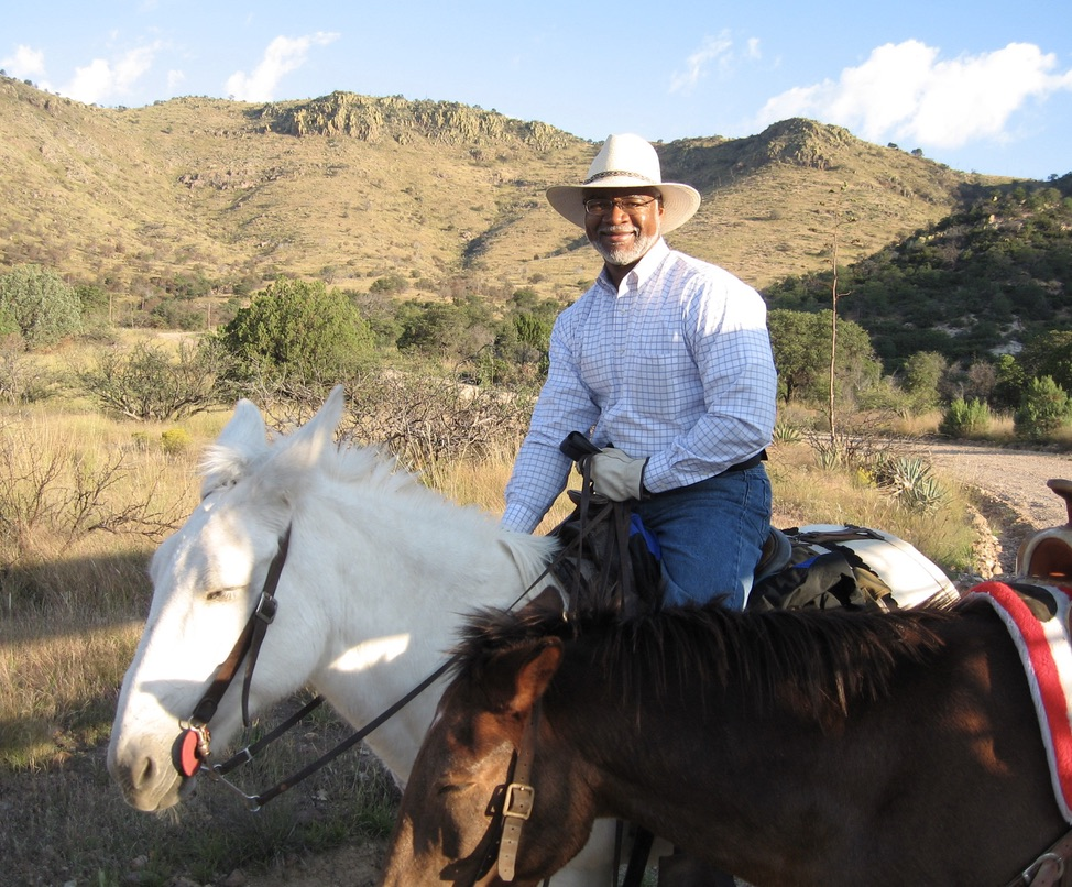 Benjamin Tuggle on horseback in the Guadalupe Mountains, which straddle the border of Texas and New Mexico.