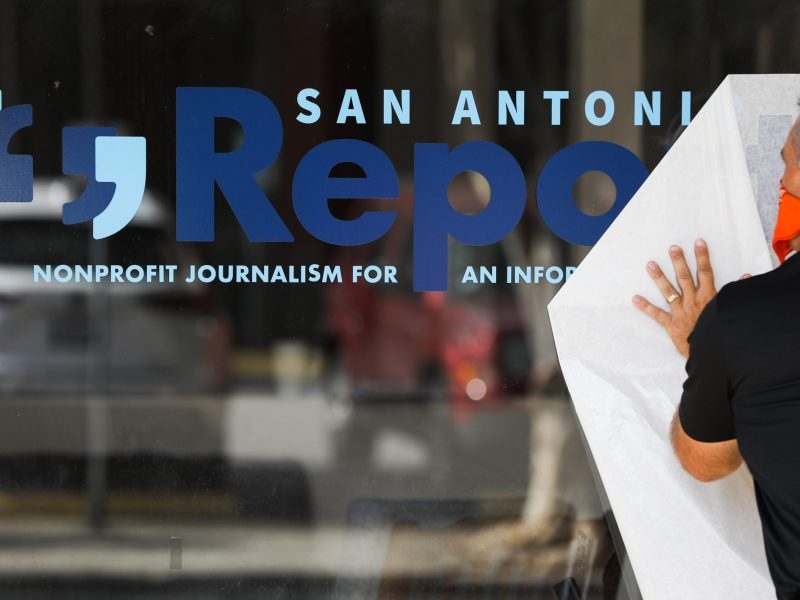 A year ago the Report's new name and logo was placed on the window of its office in St. Paul Square.