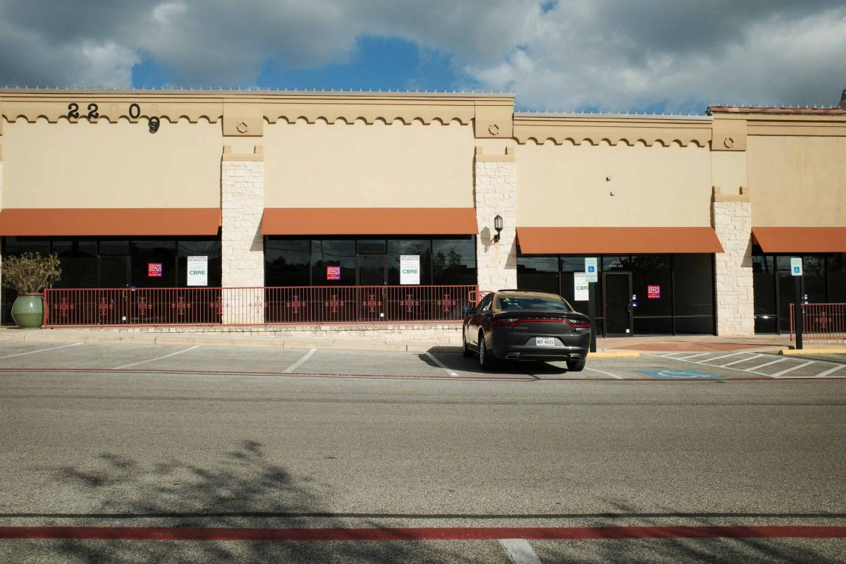 Commercial retail space is vacant and available to lease at the Village at Stone Oak shopping center.