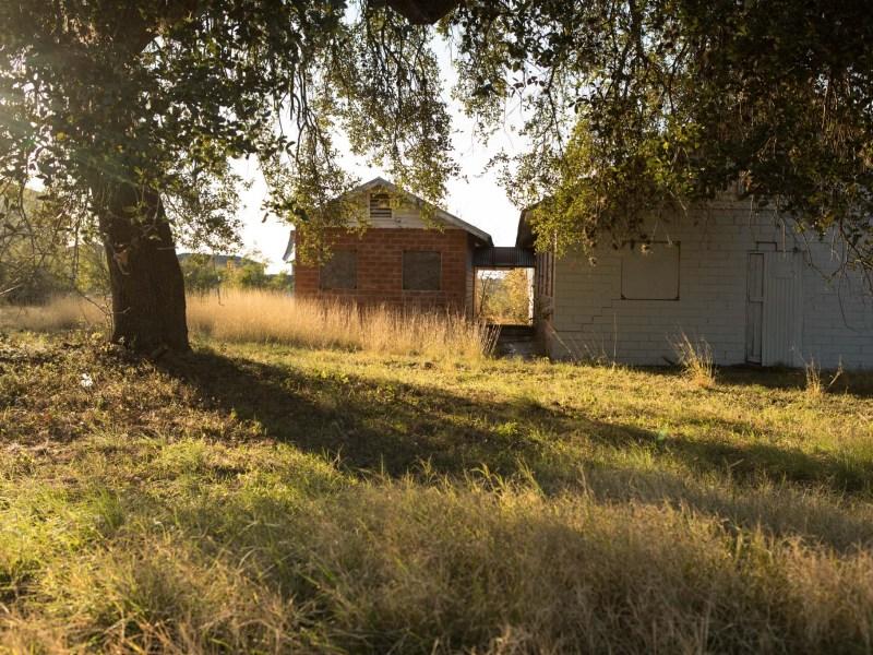 Historically significant Bacon Steubing Farm on DeZavala Rd. Photos taken on December 24, 2020.