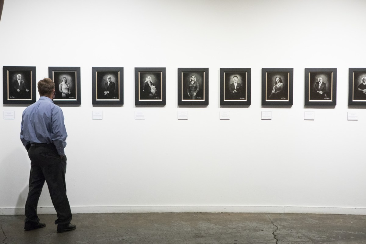 """""""A Collective Vision: Notable People of San Antonio in 2020"""" is a photography exhibition by Kevin G. Saunders at Brick at Blue Star Arts Complex opening on the first day of Dreamweek, January 14, 2021."""