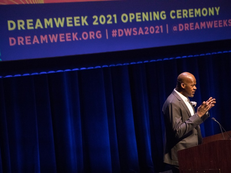 Dreamweek Dreamvoice Opening Ceremony held at the Tobin Center for the Performing Arts on January 14, 2021.