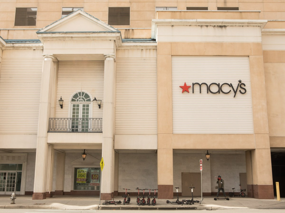 Macy's is located in the Shops at Rivercenter in downtown San Antonio. Photos taken January 27, 2021.