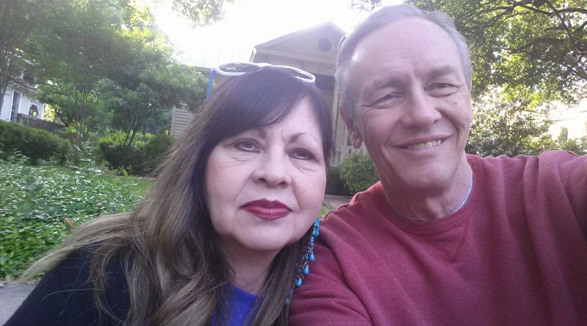 Randy Lankford (right) and his wife Linda.