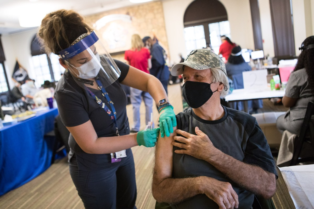 The South Texas Veterans Health Care System partnered with Texas A&M University-San Antonio to hold a COVID-19 vaccination clinic between 9 a.m. and 3 p.m., Saturday, Feb. 27, 2021 on the Texas A&M University-San Antonio campus.