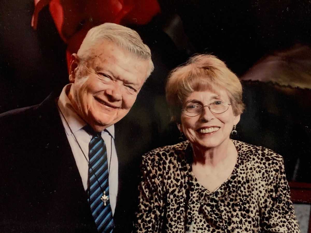 Martin Sablik, left, with his wife Beverly. Martin died of complications from COVID-19 on February 6.