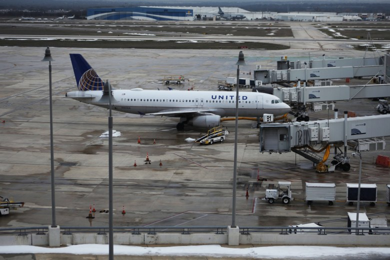 General weather / cold / snow stock photos at the airport, around San Antonio, on February 17, 2021.