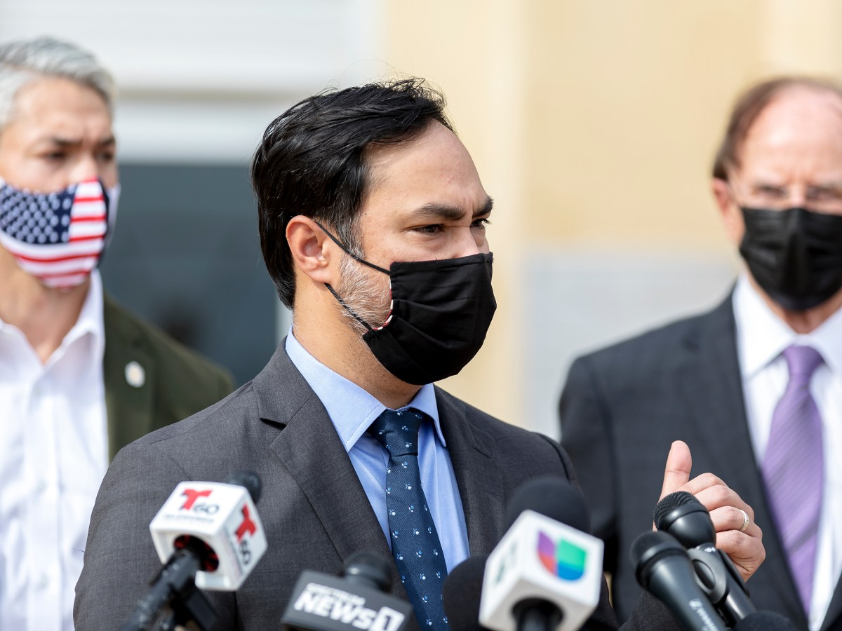 U.S. Rep. Joaquin Castro (D-Texas) speaks during a press conference in March. Castro has proposed funding in a House Appropriations bill that would expand Communities in Schools-San Antonio throughout SAISD.