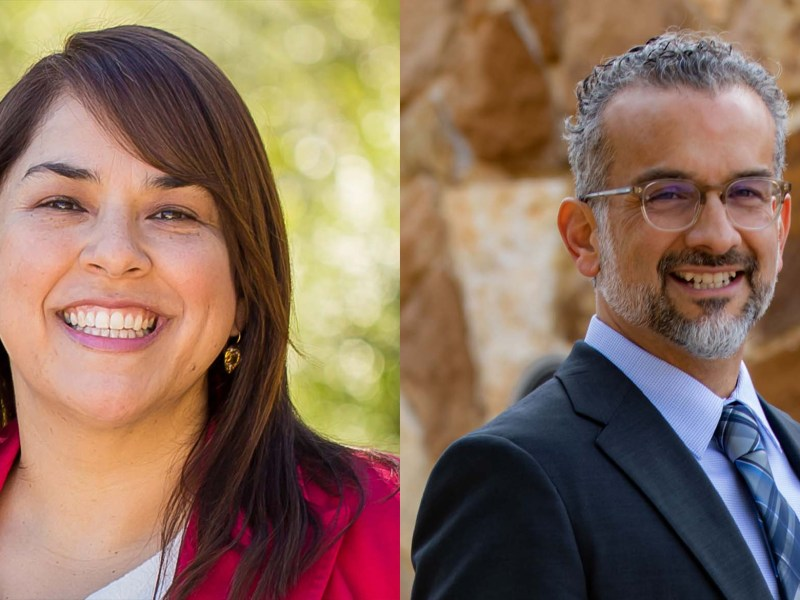 From left, Phyllis Viagran and Marcello Martinez are two of 11 candidates looking to fill the soon to be left by Phyllis's sister, Councilwoman Rebecca Viagran (D3).