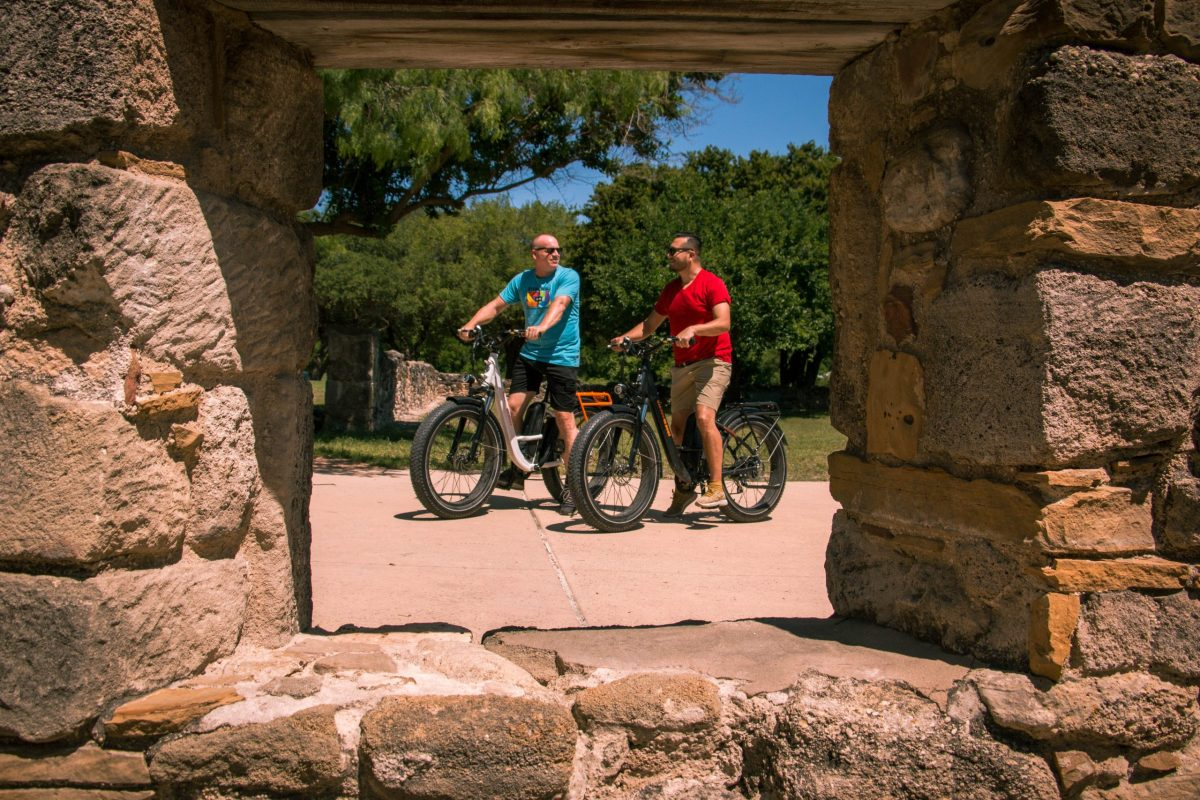 Jerry and Daniel Lam Esquivel said they enjoy riding their bikes at Mission San Jose and through a trail by Stinson Municipal Airport.