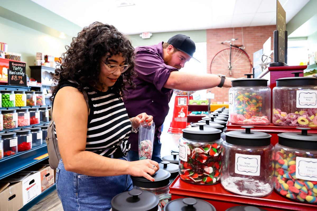 Valerie and Zach love satisfying their sweet tooth at Popcorn Picadilly. The Old Fashioned-themed candy shop offers a variety of candies and a long list of gourmet popcorn flavors.
