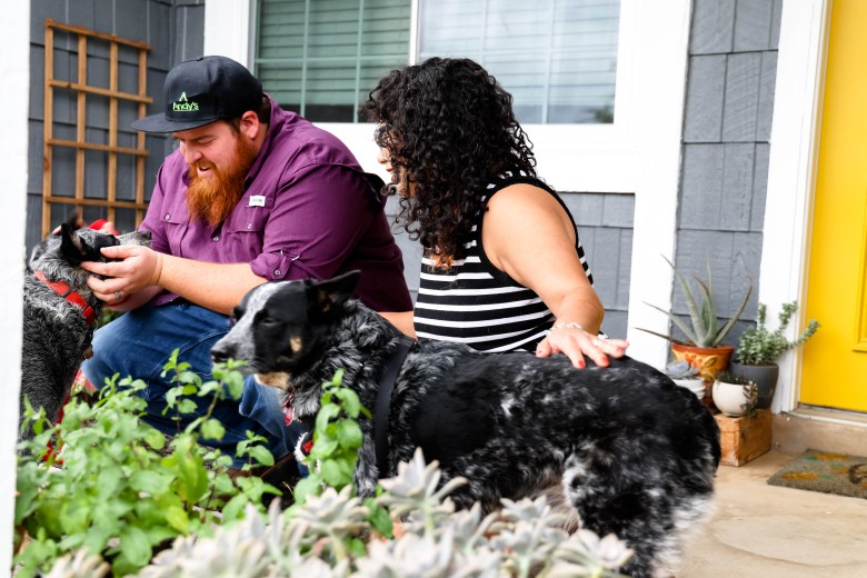 Valerie Bustamante Johnson and her husband Zach have been Converse residents for three years. They live with their two dogs, Winnie (left) and Piglet (right) who are both Australian Cattle Dogs.