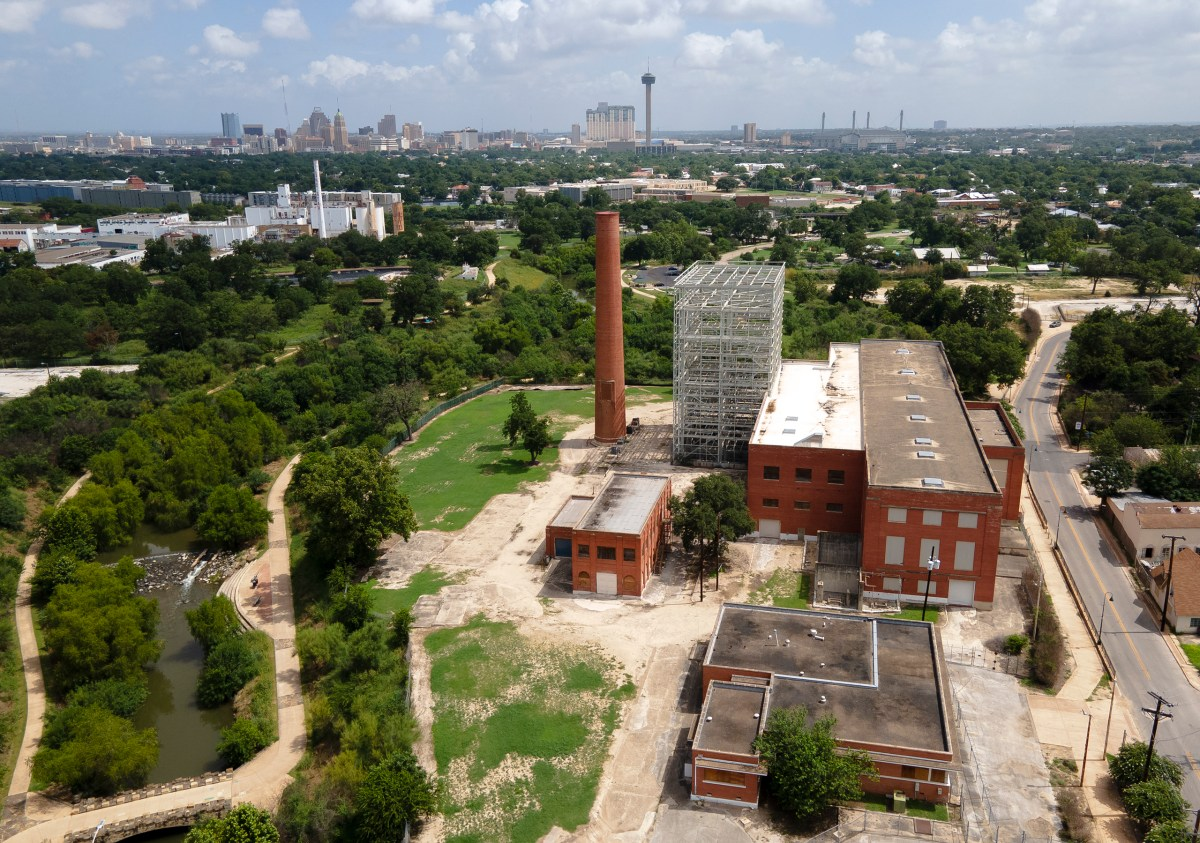 The old Mission Road Power Plant remains abandoned after plans to redevelop the property fizzled out.