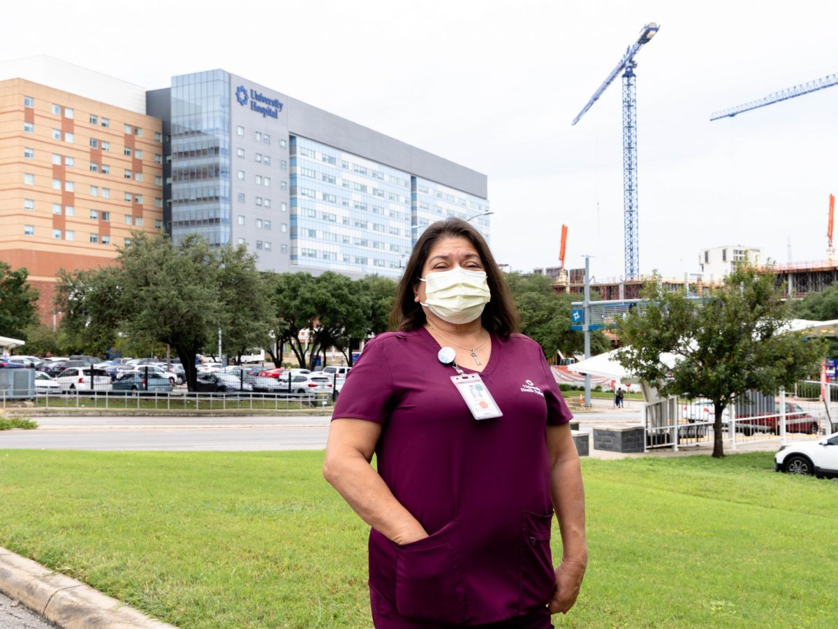 Mary Ann Lozano, a University Hospital surgical-medical tech, has been working with COVID-19 patients since March 2020.