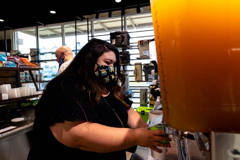 Cherise and Lucas Moreno choose thier favorite tea flavors at HTeaO Thursday.