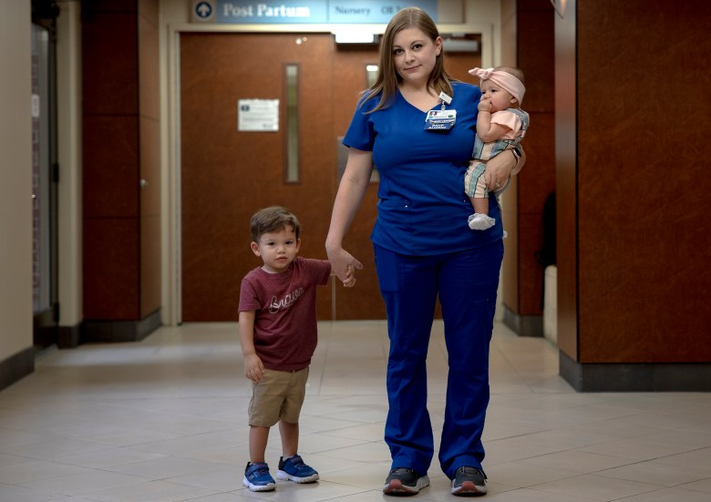 Barbara Luna, a nurse at North Central Baptist Hospital, spent several days at the bedside of her four-month-old daughter, Isabella, as she fought COVID-19, respiratory syncytial virus (RSV), and rhinovirus. Her son, Alexander, also was sick with a fever and cough.