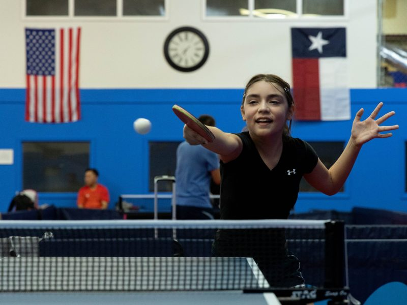 Lia Morales plays table tennis competitively and ranks 13 in the nation after picking up a paddle only two years ago.