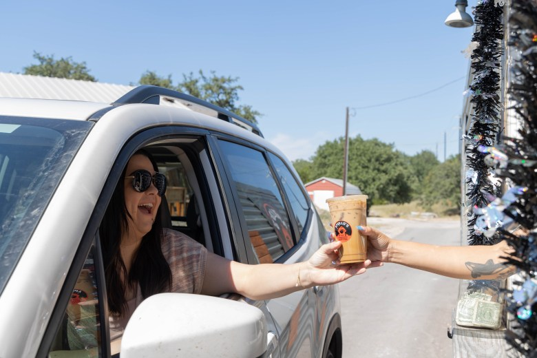 Garza enjoys taking time in the mornings to get coffee at Appolo's drive thru coffee shop.