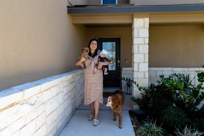 Garza lives with her fiancé, four-month-old daughter and their two dogs, Tellie and Chase in their newly constructed home.