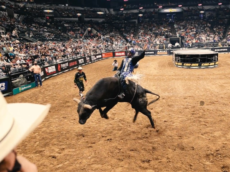 Ezekiel Mitchell, 24, learned the basics of bull riding from watching YouTube videos. Now, he hopes to become the second Black world champion bull rider.