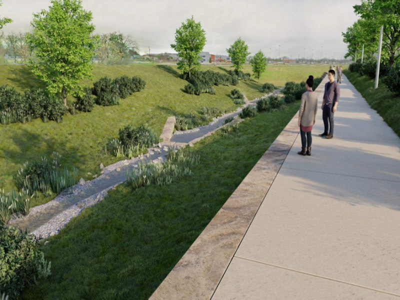 Phase three of the San Pedro Creek Culture Park will extends southwest of downtown.