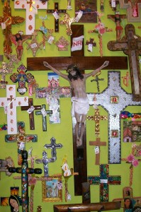 Photo of crucifixes for sale at Fiesta on Main.