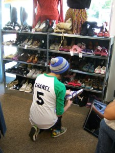 Photo of shoes for sale at Buffalo Exchange.