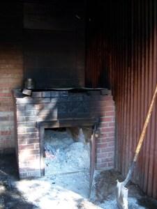 A photo of the firebox, where the BBQ magic begins.