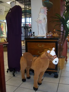 Photo of a toddler-sized horse that whinnies