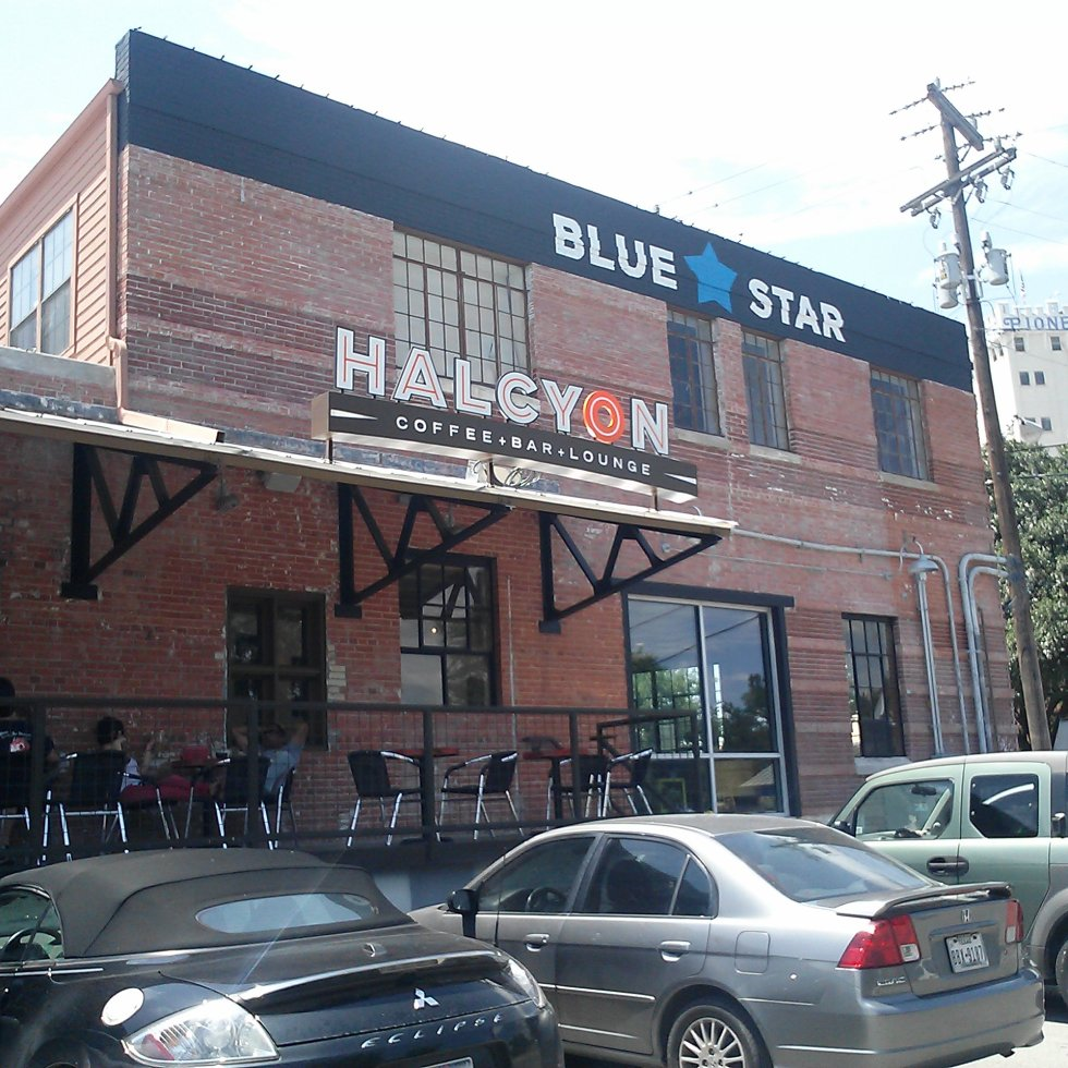 Photo of Halycon in the Blue Star Arts Complex in San Antonio, Texas.