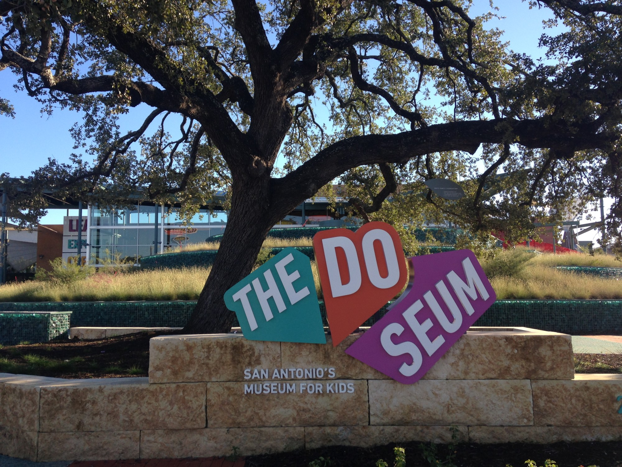 Photo of the sign outside of The DoSeum.
