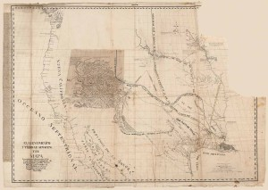 Photo of the rare 1811 Spanish Manuscript Map of the Library of Congress