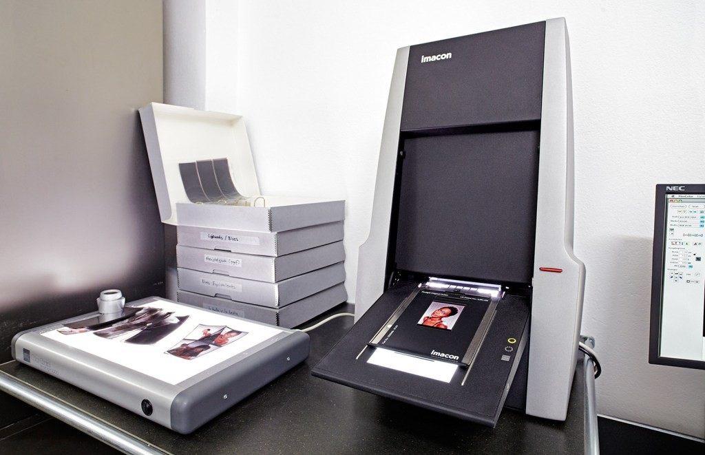 The Hasselblad (Imacon) Flextight is without a doubt the best scanner for all 35 mm films.
