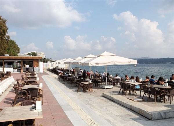 İstanbul'un Güzellikleri ; Dolmabahçe Çay Bahcesi