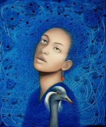 Azat Yeman tuval üzerine yağlıboya ve aklrilik 60x50 cm