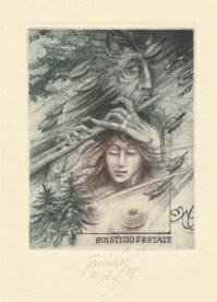 Exlibris YORASLAV MINAR-REP,CHECH-m