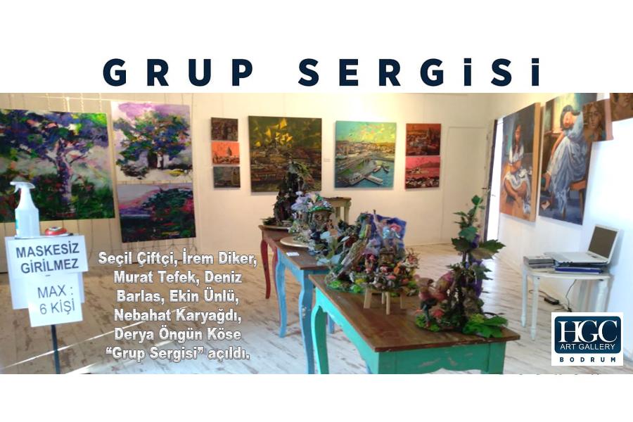 """HGC Art Gallery'de """"Grup Sergisi"""" açıldı"""
