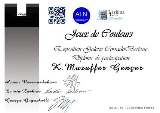K.Muzaffer Gençer -PARİS Bortone Gallerie 4
