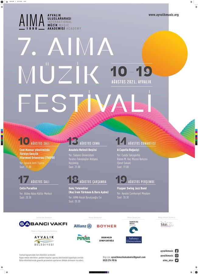 Ayvalık 7. AIMA Müzik Festivali Sona Erdi.