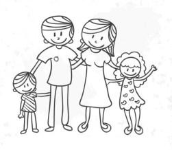 dibujo-en-blanco-y-negro-de-familia_