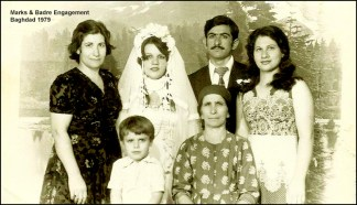 Marks and Badre wedding Baghdad 1979