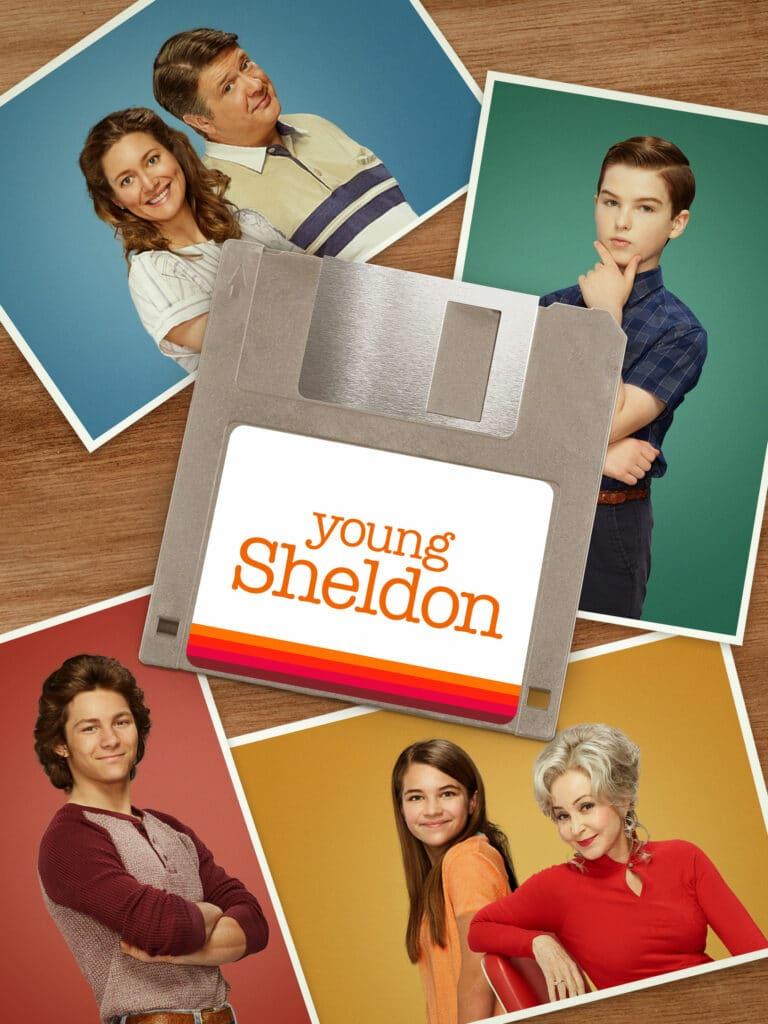 Poster oficial da 5ª temporada de Young Sheldon na CBS