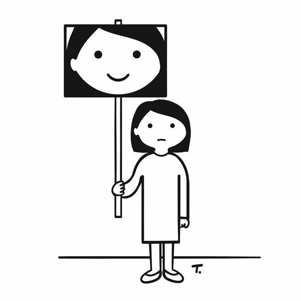 "Illustration ""Glück"" von Tonguc Baykurt"