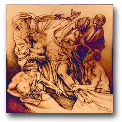 Storia dell'apostolo su bronzo: Inaugurata la porta della chiesa madre