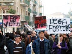 Corteo per le strade di Benevento