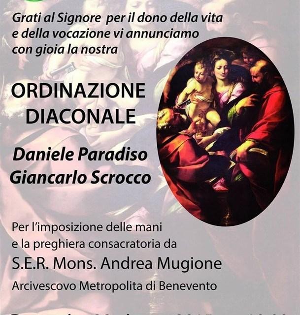 Ordinazione diaconale Daniele Paradiso