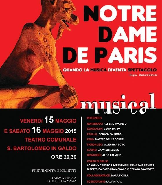 "Va in scena ""Notre Dame De Paris"""