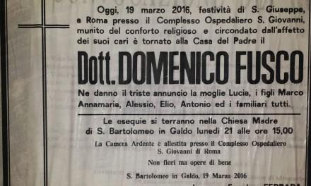 Dott. Domenico Fusco