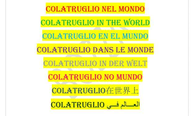 COLATRUGLIO IN THE WORLD