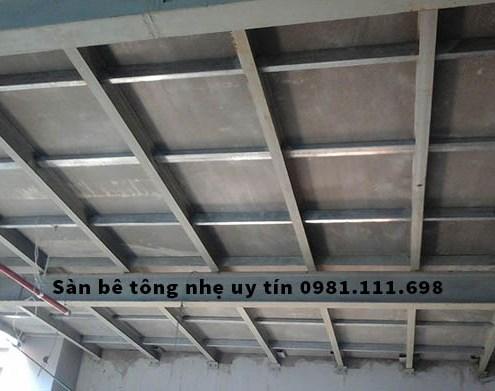 Một công trình xây dựng sử dụng tấm sàn bê tông nhẹ